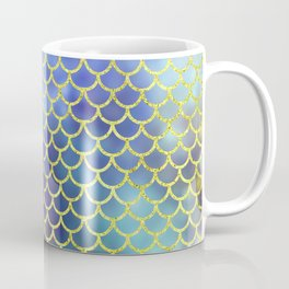 Rainbow Mermaid Scales Pattern Coffee Mug
