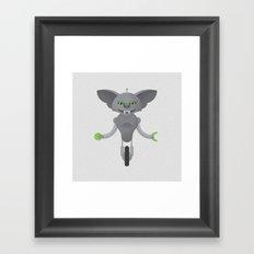 Gremlin / Robot Framed Art Print