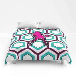 Girls Basketball Team Sports Design Pattern Comforters