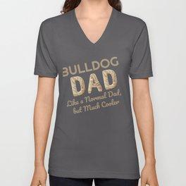 Bulldog Dad Dog Lover Unisex V-Neck