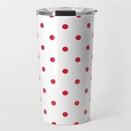 Polka Dots Pattern: Red Travel Mug