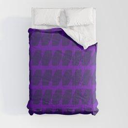 Purple Dog Tooth Pattern Comforters