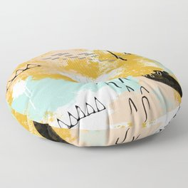 Presence of Life, Abstract Tribal Art Floor Pillow