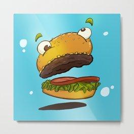 Derp Burger Metal Print