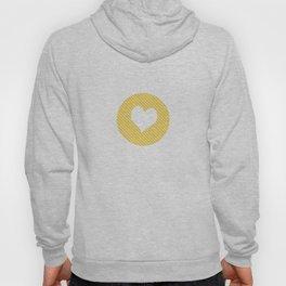 Striped heart yellow   Hoody