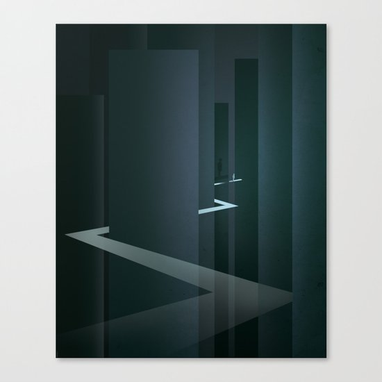 Smooth Minimal - Silver Surfer Canvas Print