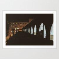 Night Market Reigns. Art Print