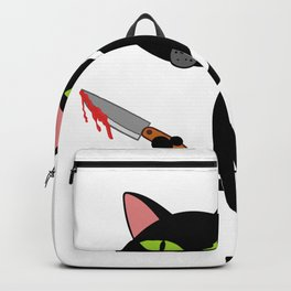 """Happy Halloween Shirt For October November Cat Animals""""What?"""" T-shirt Design Creepy Spooky Backpack"""