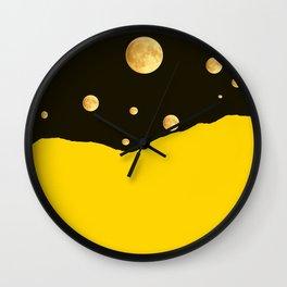 Many moons in the sky #decor #buyart #society6 Wall Clock