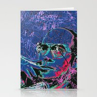 hunter s thompson Stationery Cards featuring Hunter S. Thompson by Kori Levy illustration & design