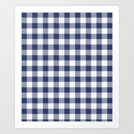 Blue Vichy Art Print