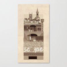 Townscape Vintage Canvas Print