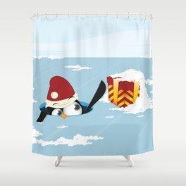 Smart penguin Shower Curtain
