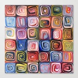 Spiral Grid Canvas Print