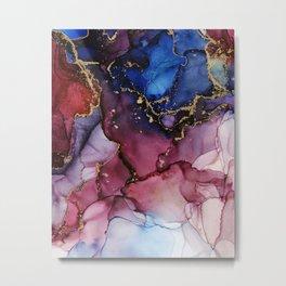 Blue Raspberry Tide | Part 3 Metal Print