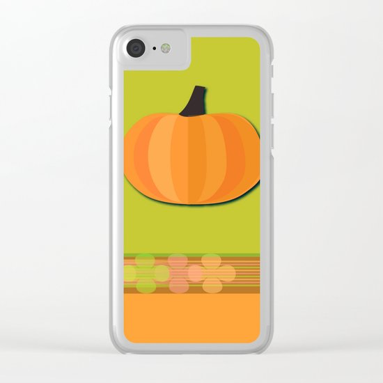 Pumpkins Time Clear iPhone Case