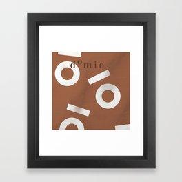 Tan Keyhole Linen Framed Art Print
