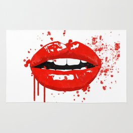 Red lips Rug