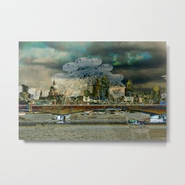 London XIII - The Thames Metal Print