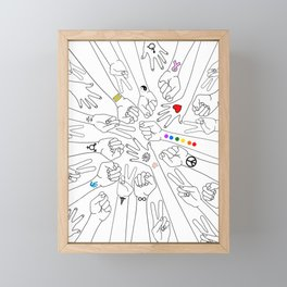 Equality Framed Mini Art Print