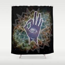 Gyan Mudra Hand Posture Shower Curtain
