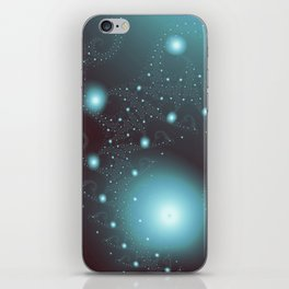Blue Cosmos Abstract Fractal Art iPhone Skin