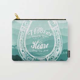 Horse Quote Typography - Horse Hoove Shoe quote - Horse lover Carry-All Pouch