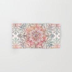 Autumn Spice Mandala in Coral, Cream and Rose Hand & Bath Towel