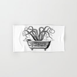 Tentacles in the Tub | Octopus | Black and White Hand & Bath Towel