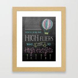 High Heights Framed Art Print
