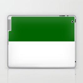 White and Dark Green Horizontal Halves Laptop & iPad Skin