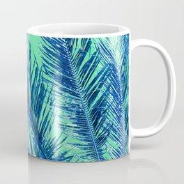 Tropical Palm Blue Coffee Mug