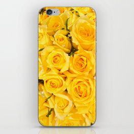 YELLOW ROSES CLUSTERED iPhone Skin