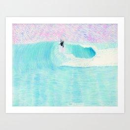 SURF AERIAL no. 1   WATER COLOR Art Print