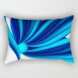 Abstract blue 208 Rectangular Pillow