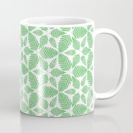 Fern Woodland Leaf Simple Spring Vegetation Pattern Coffee Mug