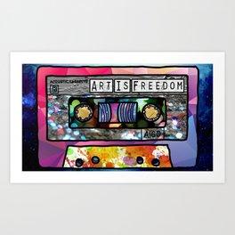 Art Is Freedom Cassette Art Print