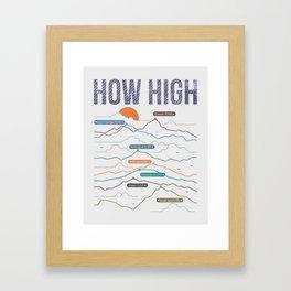 how high Framed Art Print