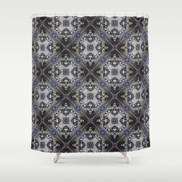 Vintage 1800 Period Hidden Faces Abstract Design Shower Curtain
