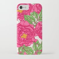 peonies iPhone & iPod Cases featuring peonies by melazerg
