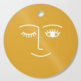 wink / mustard Cutting Board