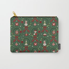 Winter Friends (Green) Carry-All Pouch