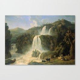 Great Cascades at Tivoli Villa, Rome, Italy by Jakob Philipp Hackert Canvas Print