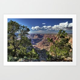 Grand Canyon Vista South Rim Art Print