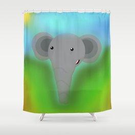 Elbert the Elephant Shower Curtain