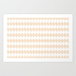 jaggered and staggered in linen Art Print