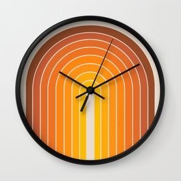Gradient Arch - Vintage Orange Wall Clock
