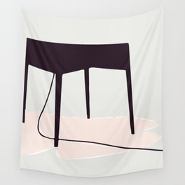 Minimal Table Pink Texture Wall Tapestry