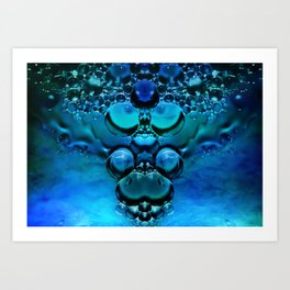 Blue Green Aura Art Print