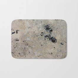 Abstract vintage black gray ivory marble Bath Mat